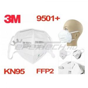 Légzésvédő maszk - FFP2 - KN95 szelep nélküli, fülpánttal, professzionális, 3M