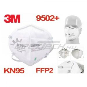 Légzésvédő maszk - FFP2 - KN95 szelep nélküli, fejpánttal, professzionális, 3M