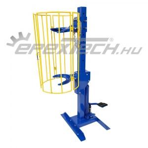 Hidraulikus, állványos rugóösszehúzó, 1 t, védőrácsos