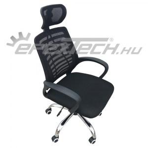 Állítható magasságú irodai szék hálós háttámlával és fejtámlával