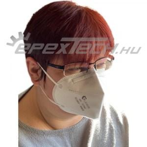 Légzésvédő maszk fülpánttal, FFP2, KN95, 1 db