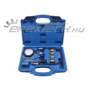 Benzin kompresszió mérő készlet, 0-21bar