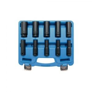 Levegős dugókulcs készlet, 10-24 mm, 10 részes
