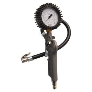 Kerékfújó pisztoly nyomásmérő órával, 10 bar, kalibrált