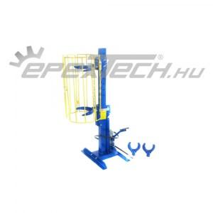 Pneumatikus-hidraulikus, állványos rugóösszehúzó, 1 t, védőrácsos
